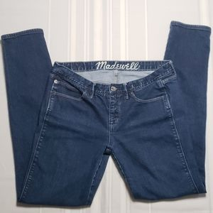 MADEWELL Skinny Low Rise Medium Wash Jeans